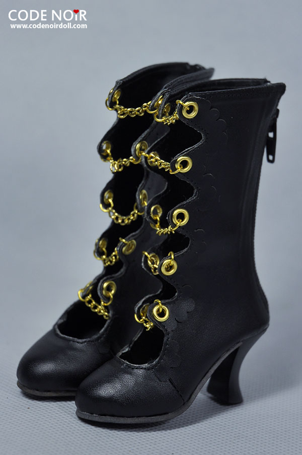 [Pre-order]CLS000122 Black x Golden Chain Boots