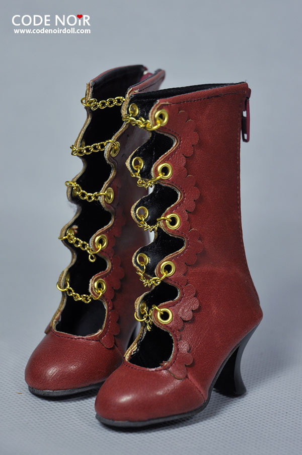 CLS000124 Red x Golden Chain Boots