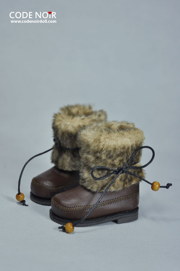CMS000065 Chocolate Faux Fur Boots